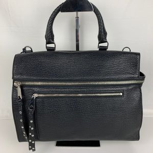 New Rebecca Minkoff Jane Black Leather Satchel